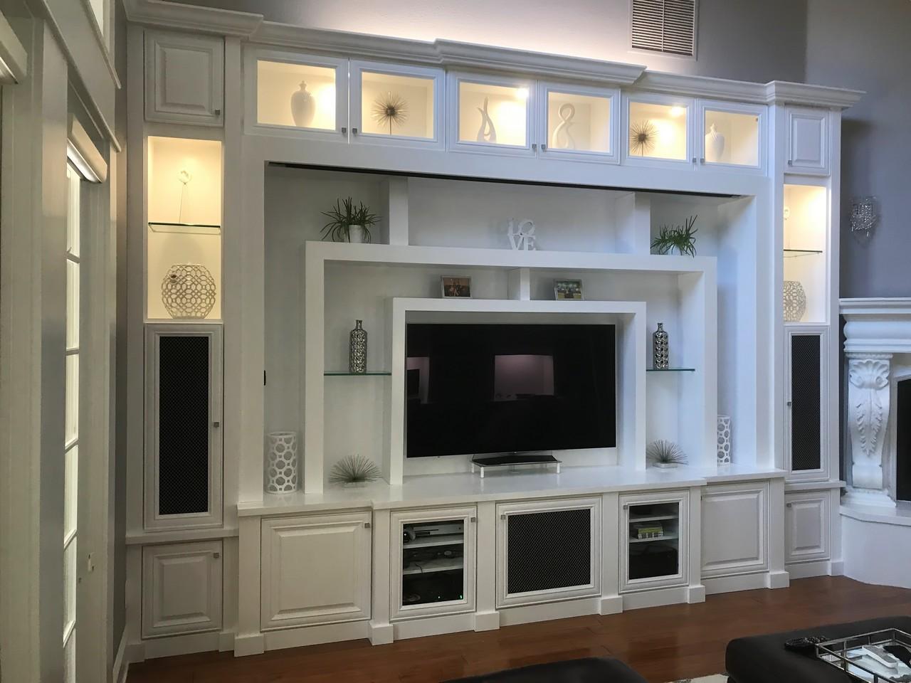 Custom Entertainment Centers Wall Units Orlando Fl